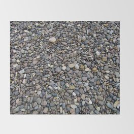 What Stories You Could Tell... Rocks of Jasper Beach Throw Blanket
