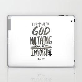 Luke 1: 37 Laptop & iPad Skin