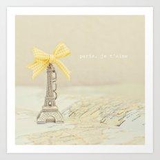 Paris, je t'aime Art Print