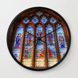Bath Abbey Stained Glass Window Wall Clock