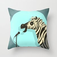 humor Throw Pillows featuring Observational Humor by David Kantrowitz