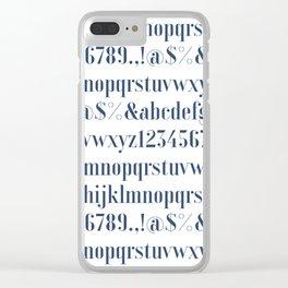 Bauhaus Joschmi Xants Font Clear iPhone Case