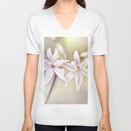 Flower macro 050 Unisex V-Neck