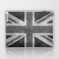 UK flag, High Quality Greyscale Retro Laptop & iPad Skin
