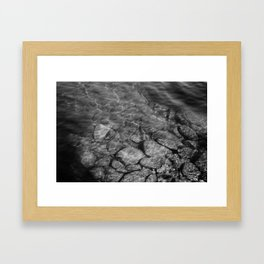 Under Water (Black and White) Framed Art Print