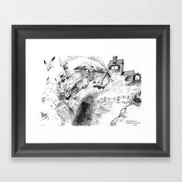 Au-Delà du Terminus / Beyond the End Station Framed Art Print
