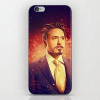 tony stark iPhone & iPod Skins featuring Tony Stark - Iron Man by KanaHyde