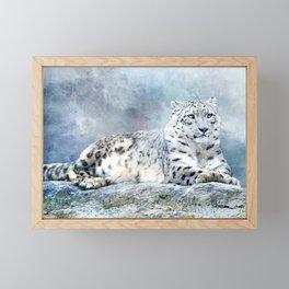 Snow Leopard Framed Mini Art Print