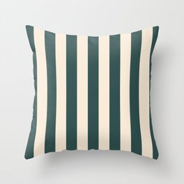2021 Bi Colour Lines Pattern : Tidewater green and Set Sail Champagne Throw Pillow
