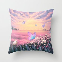 Somewhere Between Earth and Heaven Throw Pillow