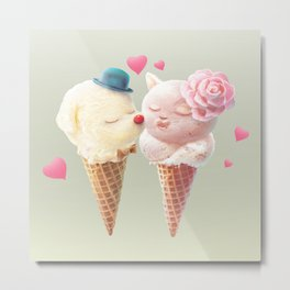 Ice Cream Love Metal Print