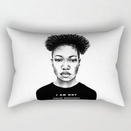 I Am Not Your Servant Rectangular Pillow