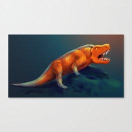 Orange Roar Canvas Print