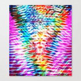 Crumpled Rainbow V Tie Dye Canvas Print