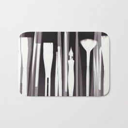 Paintbrush Photogram Bath Mat