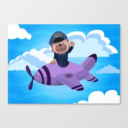 There's an Otter in the Flight Deck Canvas Print