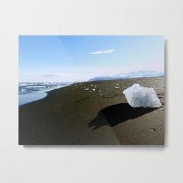 Jokulsarlon Beach, Iceland Metal Print