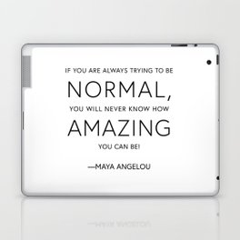 Don't Be Normal, Be Amazing Laptop & iPad Skin