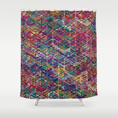Cuben Network 2 Shower Curtain