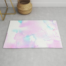 Cotton Candy Ink Blot Rug