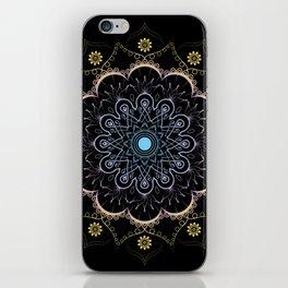 Contrast mandala iPhone Skin
