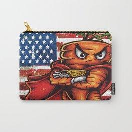 Angry Carrot USA Flag Foodietoon SuperHero Carry-All Pouch