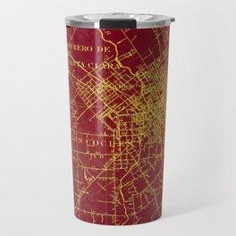 San Jose old map year 1899, united states vintage maps Travel Mug