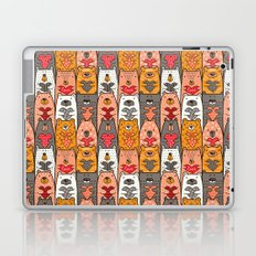 Boho Bear Love Pattern Laptop & iPad Skin
