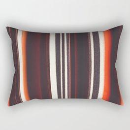 Abstract red, white & black lines / Linework fine art print Rectangular Pillow