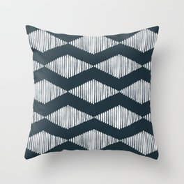 Acoustic Wave Navy Throw Pillow