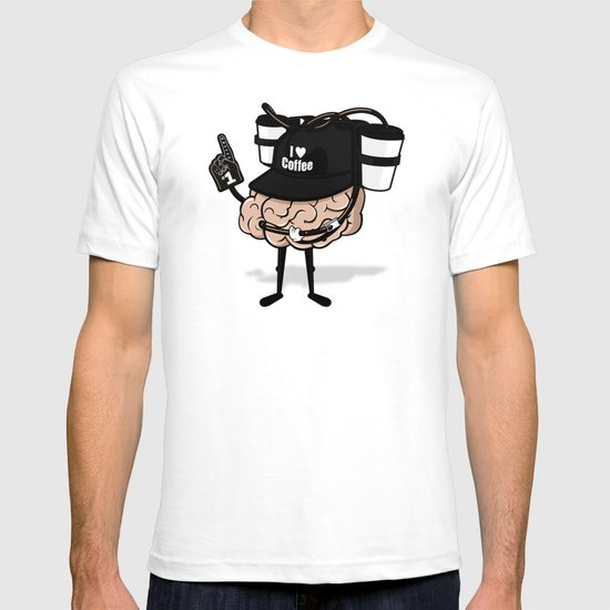 He loves coffee a lot!!!! T-shirt