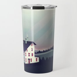Castle in the Mountains Travel Mug