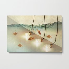 ideas and goldfish Metal Print