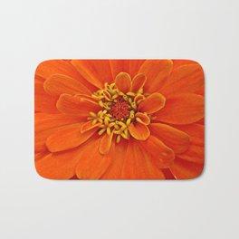 Orange Petals Bath Mat