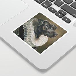 Portrait of a Young Doggo Sticker