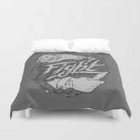 fight Duvet Covers featuring The Fight by Fightstacy