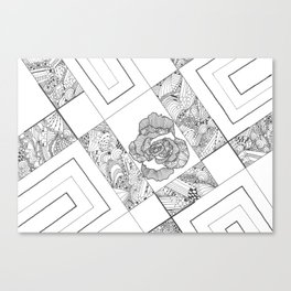 Rose Lines Canvas Print