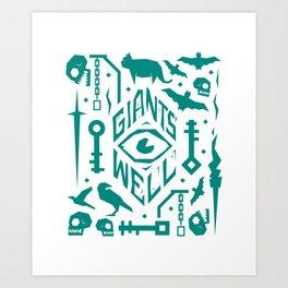 Giants' Well collage Art Print