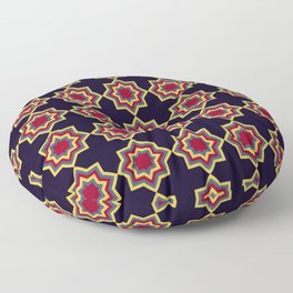 Moroccan Flare Geometric Seamless Pattern Floor Pillow