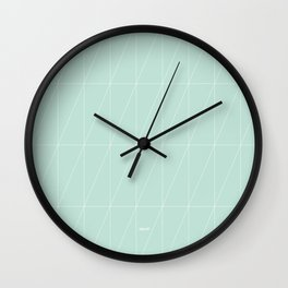Mint Triangles by Friztin Wall Clock