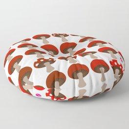 Mushroom in White Floor Pillow