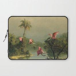 Spoonbills in the Mist Laptop Sleeve