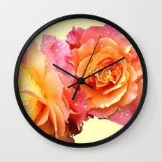 Roses2 Wall Clock