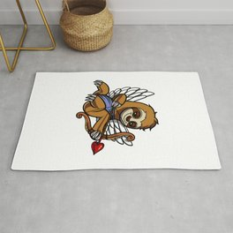 Sloth Cupid Cute Valentines Animal Rug