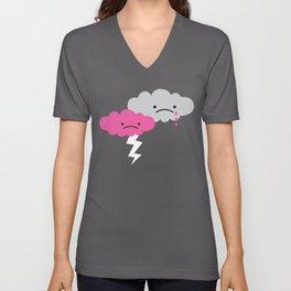 Sad Rain Cloud Unisex V-Neck