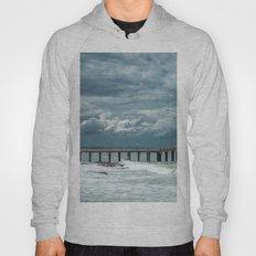 Storm over the pier of Miramar. Hoody
