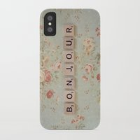 bonjour iPhone & iPod Cases featuring Bonjour by Christine Hall