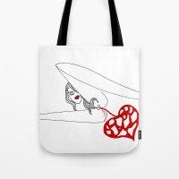 princess Tote Bags featuring PRINCESS by Vanja Cankovic