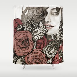 floral greetings Shower Curtain