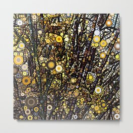Forsythia in Bloom Metal Print